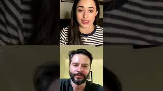 Gambar cover Instagram live with Jason Behr and Jeanine Mason parte 1