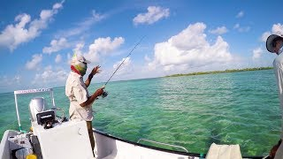 Sight Casting Fishing In Clear Blue Waters Of BELIZE