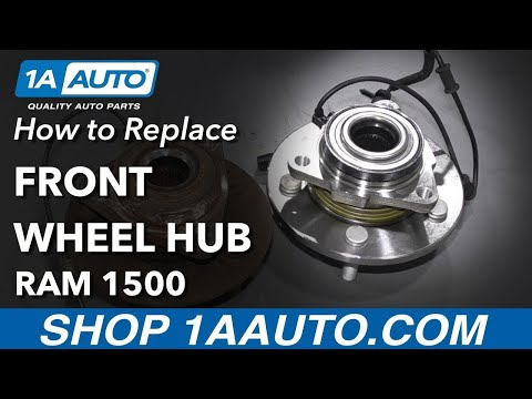 How to Replace Front Wheel Hub 12-17 Ram 1500