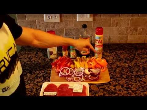 The Fitness Cook: Healthy/Low Calorie Beef Fajitas