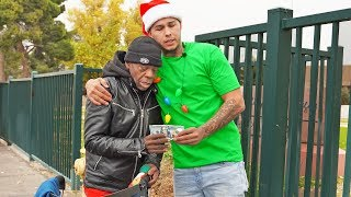 Giving Every Homeless Person I See, $100 Each For Christmas!! (Emotional)