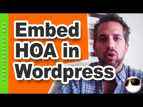 YouTube Live | How to embed a live HOA into your website - Videospot