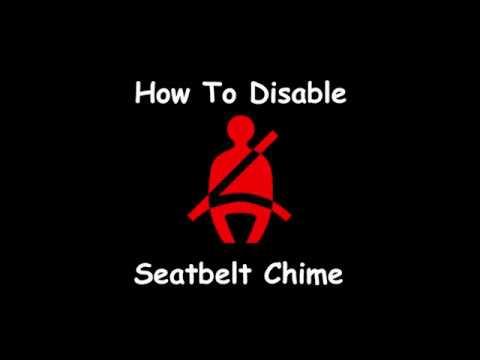 2019 Silverado Seat Belt Chime Disable