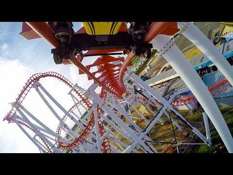Odyssey Roller Coaster Backwards Reverse POV Fantasy Island UK