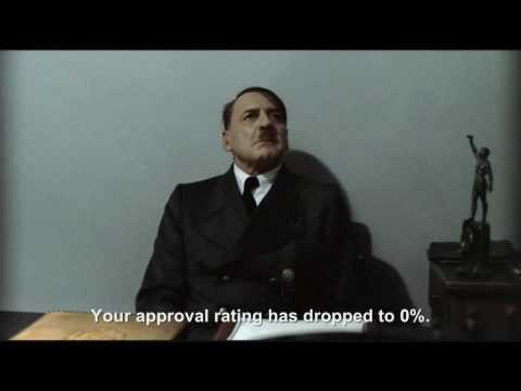 Hitler is informed his approval rating has dropped to 0%