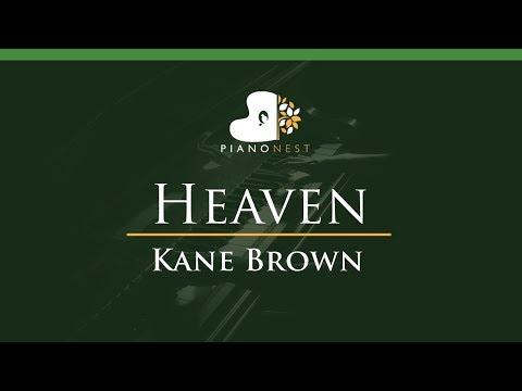 Kane Brown - Heaven - LOWER Key (Piano Karaoke / Sing Along)