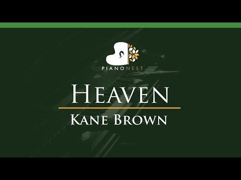 Kane Brown - Heaven - LOWER Key (Piano Karaoke / Sing Along)