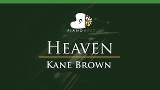 Kane Brown - Heaven - LOWER Key (Piano Karaoke / Sing Along) Mp3