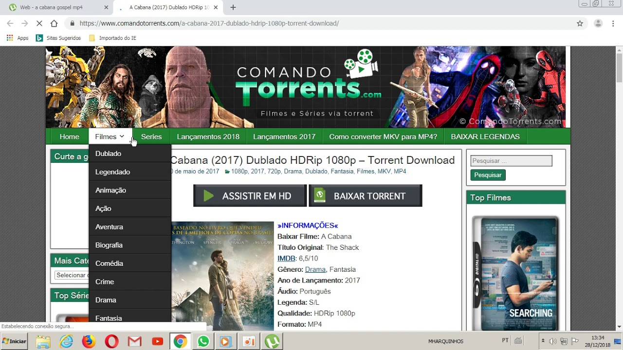 site pra baixar filme pelo utorrent