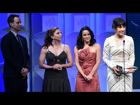 Stephanie Beatriz accepts the GLAAD Media Awards for Brooklyn NineNine