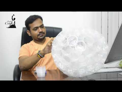 DIY Plastic Cup Lamp | Recycling Ideas | Paper Cup Craft | Mahesjeevan | Temple Crafts