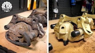 4x BMW E30 Brake Caliper [Restoration] - Gold Zinc Finish | BMW E30 325i Sport Restoration S2 E3
