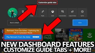 New Xbox Dashboard Features - Customize Guide Tabs + Direct Game Information for Friends / Видео