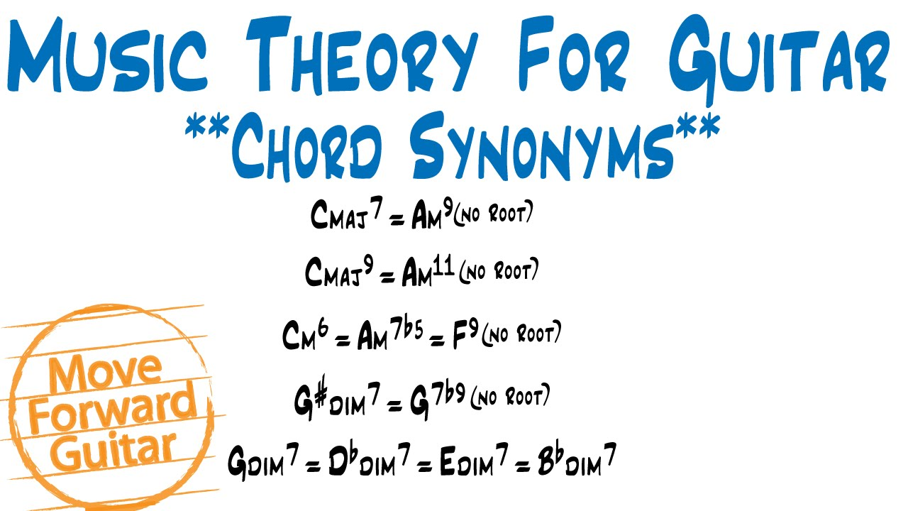 Music theory for guitar chord synonyms youtube music theory for guitar chord synonyms hexwebz Images