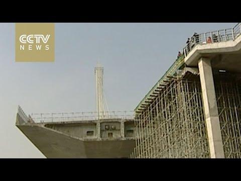 Watch: World's heaviest cable-stayed bridge rotatedbridge