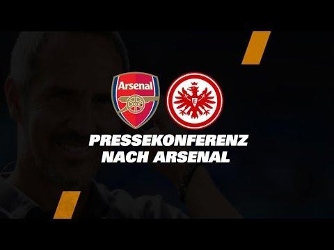 """""""Er war heute unser Matchwinner"""" I Pressekonferenz nach Arsenal FC - Eintracht Frankfurt"""