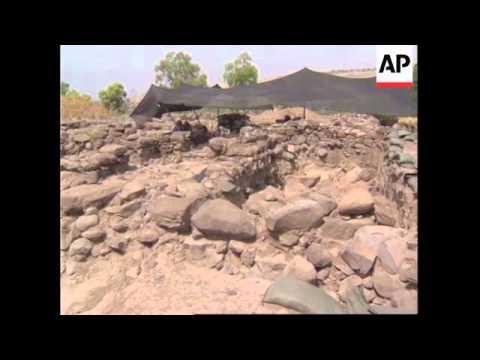 ISRAEL: ARCHAEOLOGISTS EXCAVATION OF BETHSAIDA