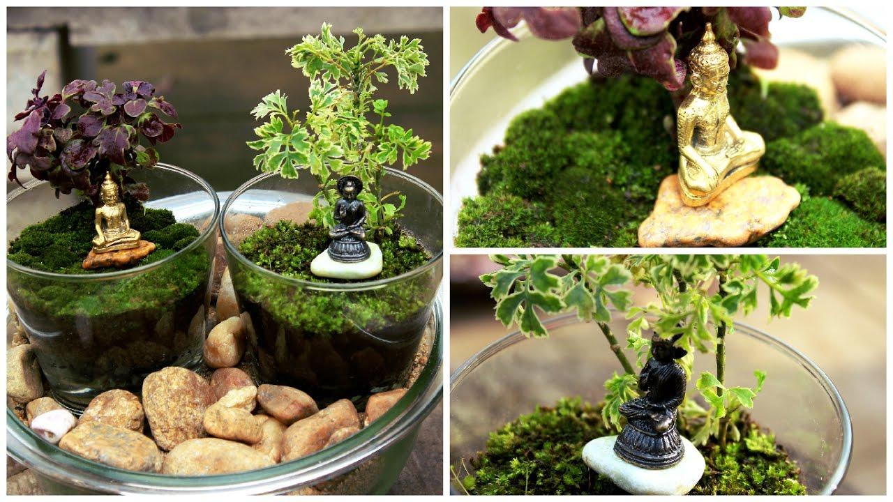 Terrarium With Bhuddha -DIY | Garden Decor. - YouTube