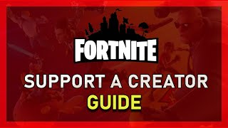 "Fortnite - How to Get ""Support A Creator"" Code Fast - Easy - Saison 9"