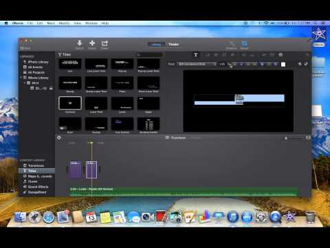 imovie how to add subtitile