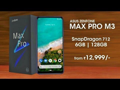 Asus Zenfone Max Pro M3 - Snapdragon 712, 48MP Camera, 5000mAh Battery | Asus Max Pro M3