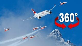 Fliegen Sie mit Swiss und Patrouille Suisse über St. Moritz
