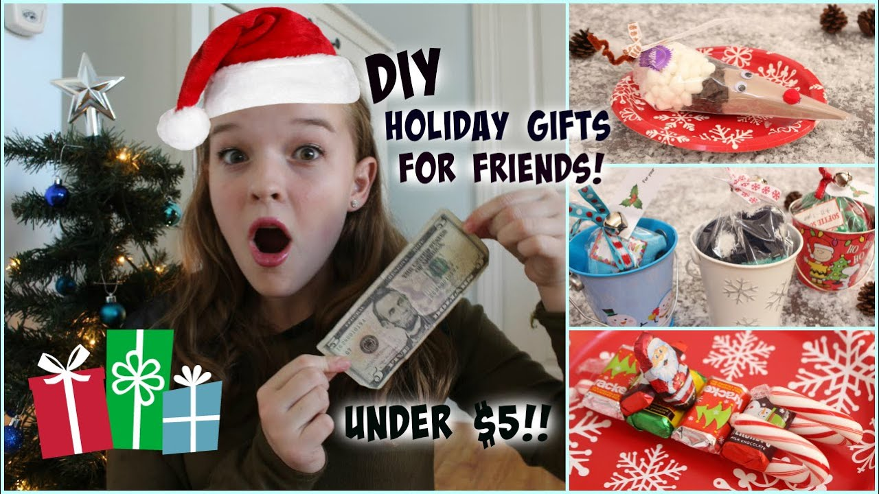 last minute diy holiday gifts for friends under 5 youtube