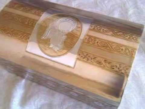 Cofre o ba l para eventos para bodas xv a os primera - Como decorar una caja de metal ...