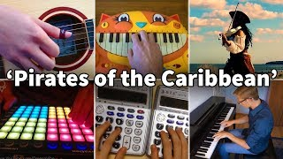Download Who Played It Better: He's a Pirate (Launchpad, Violin, Piano, Guitar, Calculator, Cat Piano) Mp3 and Videos