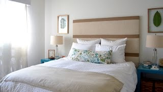 Bedroom decorating ideas - DIY headboard and lots more