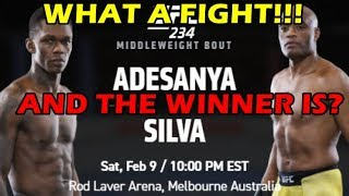Israel Adesanya Vs Anderson Silva - Winner, Recap, Highlights UFC 234