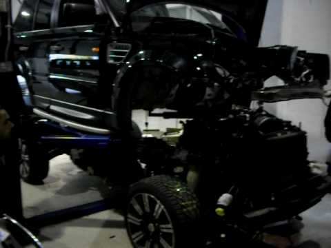 Removing The Body Shell Off Of A Range Rover Sport Youtube