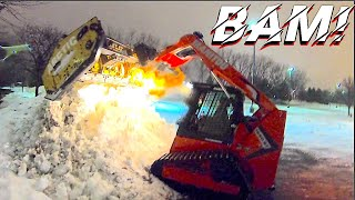 Thieves Hit right before we Snowplow!