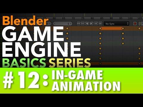 Blender Game Engine Basics Tutorial #12 : In-Game Animation #b3d #gamelogic