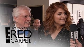 Meghan Trainor Debuts New Red Hair at 2016 Grammys   Live from the Red Carpet   E! News