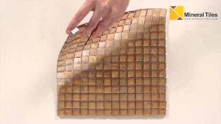 Iridescent Pool Glass Tile Peach 1x1 - 120KELUSE21105