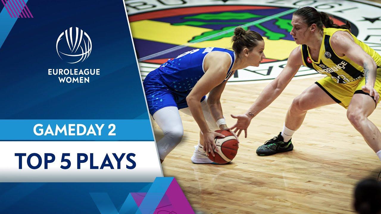 Top 5 plays Gameday 2 | Highlights | EuroLeague Women 2021-22