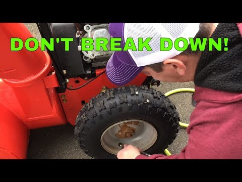 how to change oil on adriens deluxe 28 snowblower