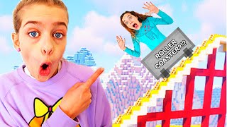 WHO BUILDS BEST ROLLERCOASTER in Minecraft Gaming w/ The Norris Nuts