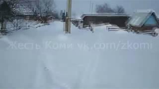Как чистят улицу Ручейную в селе Покча Троицко-Печорского района