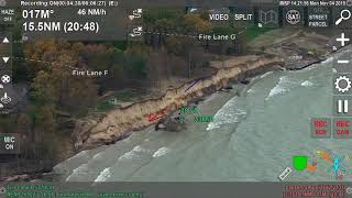 Police helicopter shows Lake Michigan erosion in Southwest Michigan