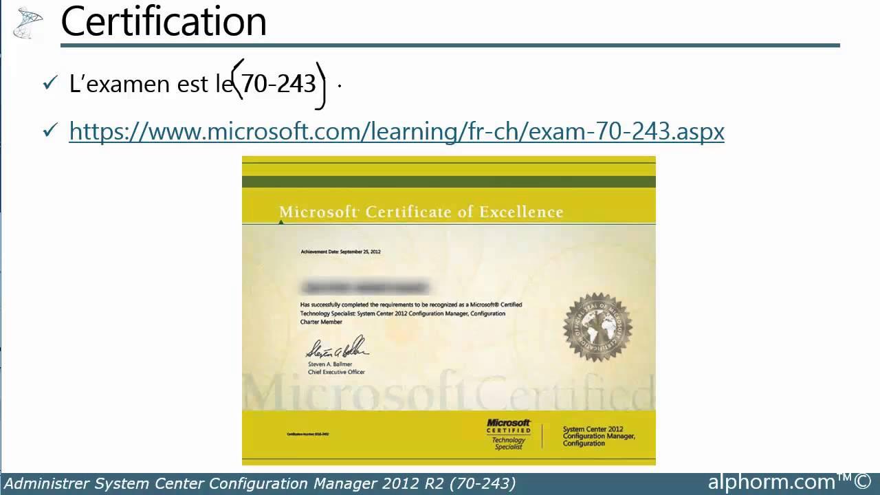 Prsentation De La Formation Sccm 2012 R2 Youtube