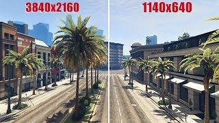 GTA V - All Resolutions From 640p to 2160p [4K]
