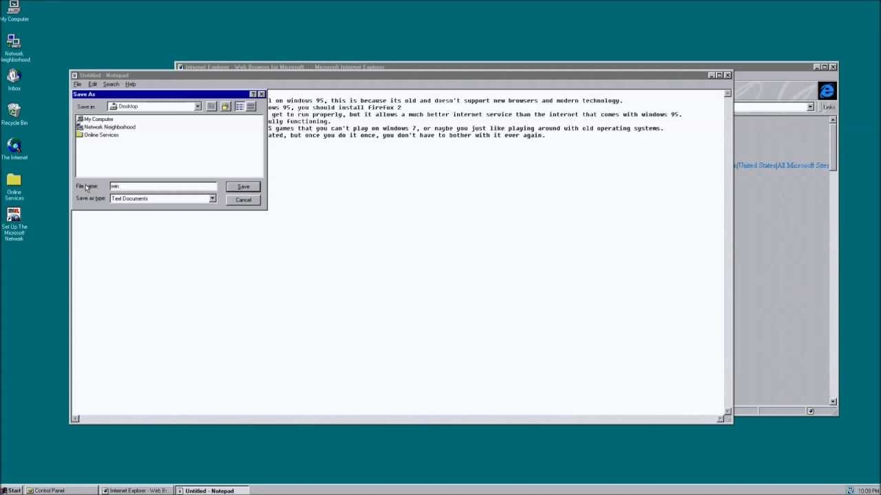 Windows 95 3-in-one Setup Tutorial for VMWare: General Setup, Sound, and  Internet
