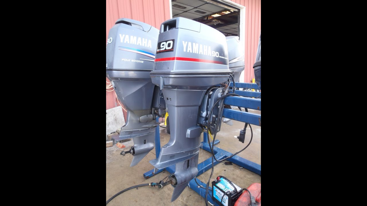 6h1l 474562 used 1990 yamaha 90etld 90hp 2 stroke outboard for Yamaha 90 outboard weight