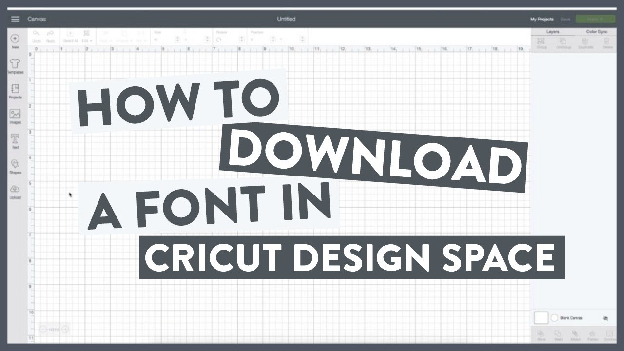 How To Download A Font To Cricut Design Space Youtube