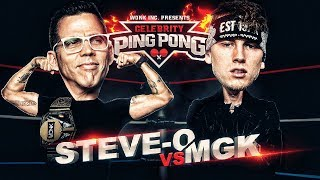 CELEBRITY PING PONG - Steve-O VS Machine Gun Kelly