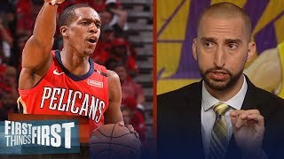 Nick Wright believes Rajon Rondo will be a great mentor for Lonzo Ball | NBA | FIRST THINGS FIRST