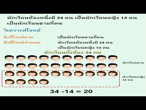 โจทย์ปัญหา(การลบ) (2) คณิตศาสตร์ ป.1