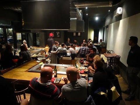 """Japanese Street Food: Teppanyaki Ninja Style Masterchefs in action at """"Sen Nin"""" restaurant in London"""